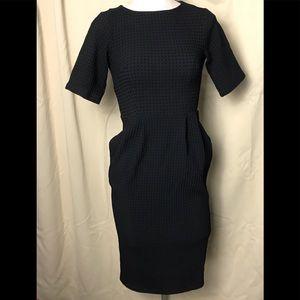 ASOS Wiggle Little Black Waffle Classic Dress